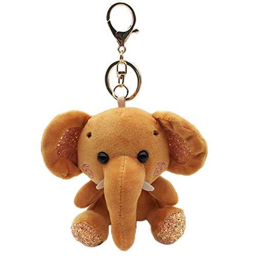 Bebé Elefante De Juguete De Felpa Elefantes Anillo Dominante De La Muñeca...