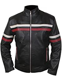 F&H Men's Retro Hybrid Mayhem Cafe Racer Genuine Leather Jacket