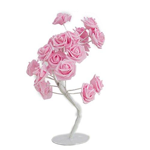 LEDMOMO Einstellbare Rose Blume Nachtlicht Tisch Baum Lampe mit 24 LED für Dekoration / Weihnachten / Party / Festival / Hochzeit
