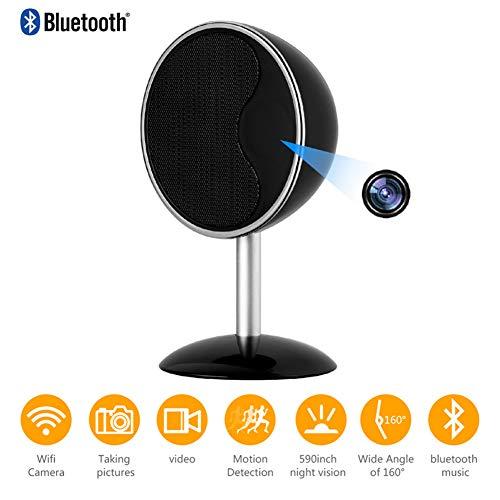 Micro Wireless Video Kamera (Namenlos HD 1080P WiFi-Kamera von Smart Bluetooth-Lautsprecher mit Nachtsicht APP Remote Mini-Camcorder Micro-Cam Video Audio Recorder Wireless Webcam)