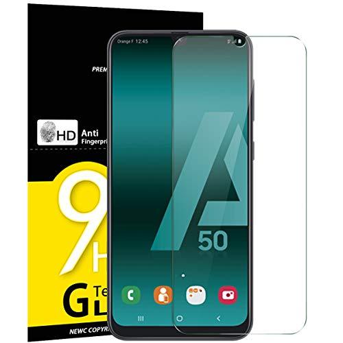 NEW'C Lot de 3, Verre Trempé pour Samsung Galaxy A50, Samsung Galaxy A50s, Film Protection écran - Anti Rayures - sans Bulles d'air -Ultra Résistant (0,33mm HD Ultra Transparent) Dureté 9H Glass