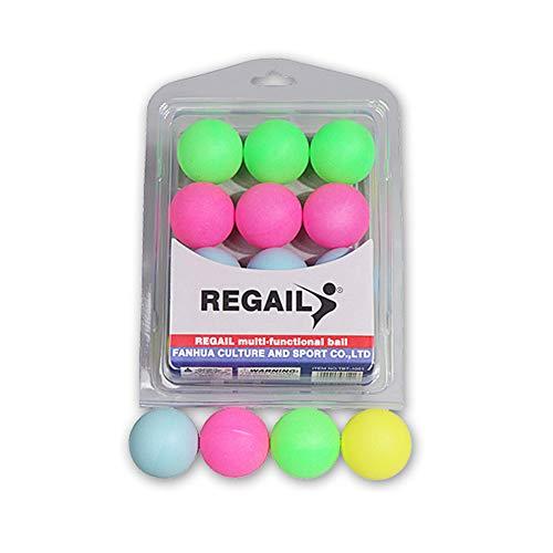 Isuper Sportbälle, 12 Stück, langlebig, für Tennisbälle, fortgeschrittenes, Ping-Pong-Training