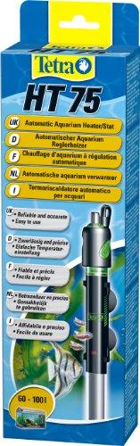 Tetra HT 75 W Reglerheizer, leistungsstarker Aquarienheizer zur Abdeckung unterschiedlicher Leistungsstufen mit Temperatureinstellknopf, (75% Abdeckung)