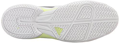Adidas Performance di Sonic Attacco scarpa da corsa, bianco / verde attrezzature / bagliore verde, 5 White/Tech Silver/Metallic Frozen Yellow