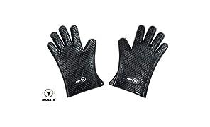 MOESTA-BBQ 10307 MeatGloves No. 1 Silikon Handschuhe Größe XL – Hitzebeständige und spülmaschinenfeste Grill- und Ofen-Handschuhe mit rutschfesten Noppen – Zertifiziert nach Lebensmittelstandard LFGB