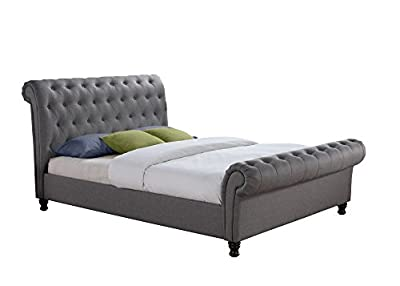 Happy Beds Castello Fabric Bed Modern Mattresses Colours Bedroom Comfort