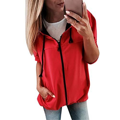 Briskorry Herbst Winter Elegante Damen Jacke Outwear Sweatshirt Parka Cardigan Casual Täglichen...