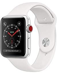AppleWatch Series3 GPS+Cellular, 38mm Aluminiumgehäuse, Silber, mit Sportarmband, Weiß