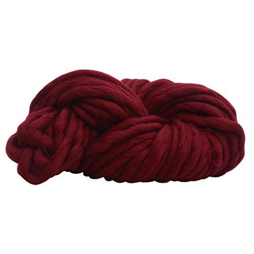 Tefamore Strickgarn Wolle Garn Super Soft Sperrige Armstricken Wolle Roving Croching DIY (F3) (Waschen Merino Wolle Pullover)