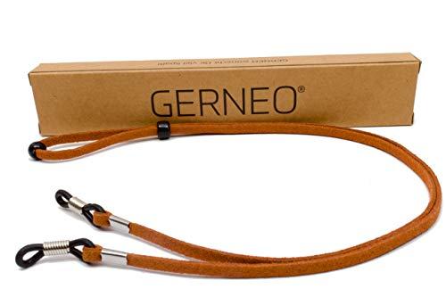 GERNEO - DAS ORIGINAL - Premium Brillenband in hochwertiger Wildlederoptik - braun - für Lesebrille...