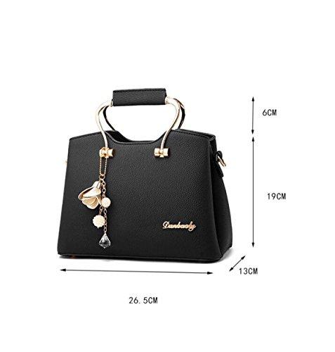 MYLL Borse Tote Donna Borse Trendy Cross-Body Borse A Tracolla Borse Conchiglie,Black Gray