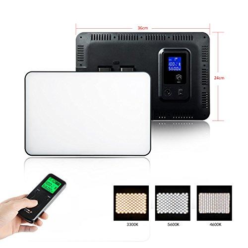 VILTROX® VL-400T 40W Bi-Color LED-Videoleuchte, Fotostudio Beleuchtung Fotografie LED Panel für DSLR-Kameras und Camcorder, Farbtemperatur 5600K ~ 3300K (keine Batterie enthalten)