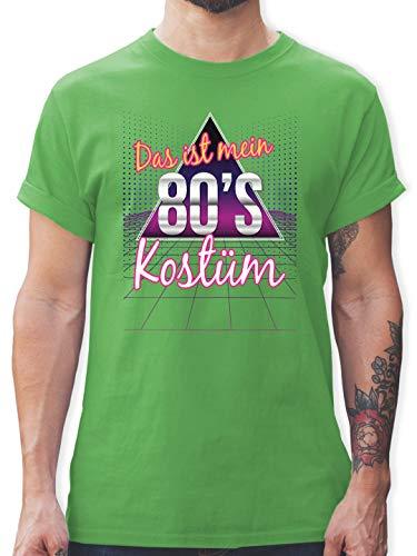 Ist Kostüm Mein Shirt Dies - Karneval & Fasching - Das ist Mein 80er Jahre Kostüm - L - Grün - L190 - Herren T-Shirt und Männer Tshirt