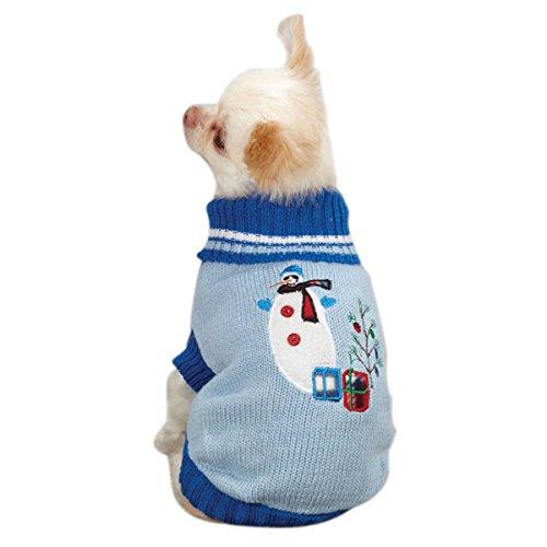 East Side Collection Hundepullover mit Deck, Acryl, Größe M, 40,6 cm, Blau -