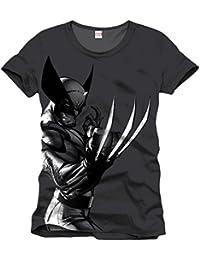 Wolverine - Marvel T-Shirt del super héroe in estilo - Con licencia oficial - Negro