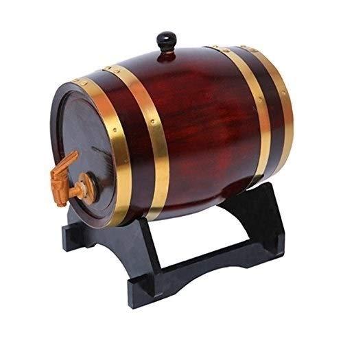 Zhong$chuang Whiskey-Fass aus Eichenholz, 25 l, handgefertigt, Weinregal, Eichenfass zur Aufbewahrung oder im Alter von Wein und Spirituosen, Eiche, B, 25 l