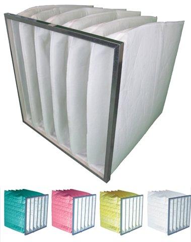 Taschenfilter G4, 592x592x300 mit 6 Taschen, Metallrahmen, Filtertaschen