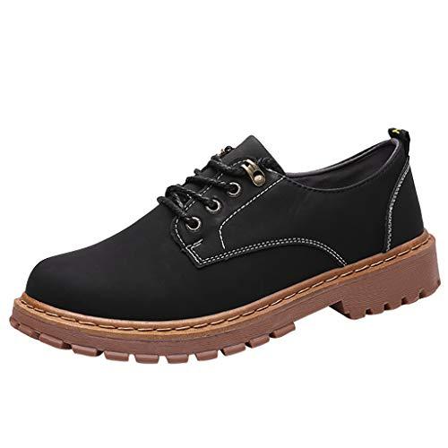 Fenverk SchnüRhalbschuhe Herren Leder Klassiker SchnüRer Modische Anzug Schuhe Brogue Mikrofaser-Leder Business Anzugschuhe EU39-44(Schwarz,39 EU)