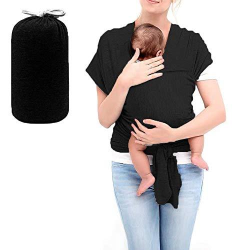 HyAiderTech Babytragetücher Kindertragetuch Baby Bauchtrage Sling Tragetuch, Tragetuch Baby elastisch für Neugeborene und Kleinkinder für Baby Neugeborene Innerhalb 16 KG (A)