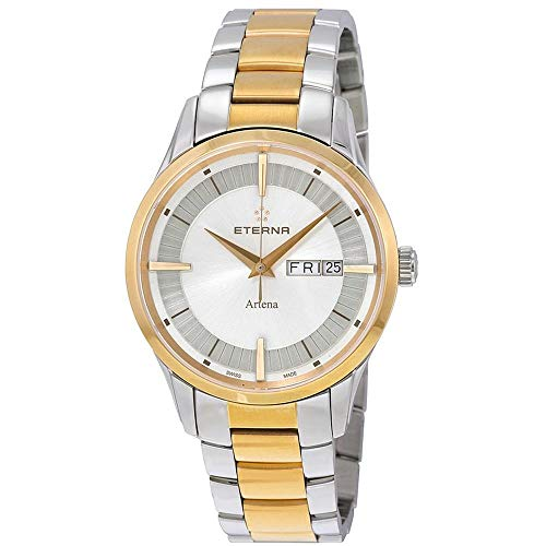 Eterna Men's 40mm Gold Tone Steel Bracelet Case Quartz Watch 2525-53-11-1725