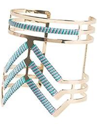 Desigual - Bracelet manchette - Plaqué argent - Global Traveller - 16.5 cm - 74G9EG53098U