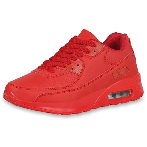 SCARPE VITA Damen Sportschuhe Laufschuhe Schnürschuhe Fitness Schuhe Sneaker 162524 Rot 37