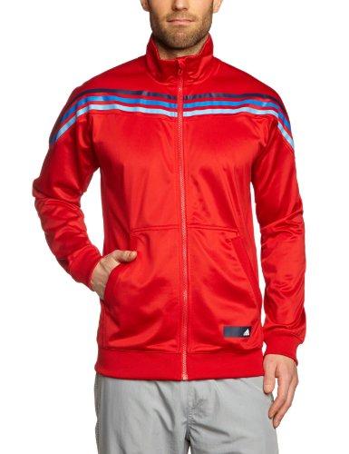 adidas, Giacca sportiva antivento con cerniera Uomo, Rosso (light scarlet), XS