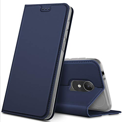 GeeMai Alcatel 3L Hülle, Premium Alcatel 3L Leder Hülle Flip Case Tasche Cover Hüllen mit Magnetverschluss [Standfunktion] Schutzhülle handyhüllen für Alcatel 3L Smartphone, Blau