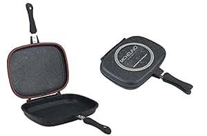 JOLTA®/Michelino Exclusive Poêle double réversible Poêle Poêle grill Double face Poêle grill