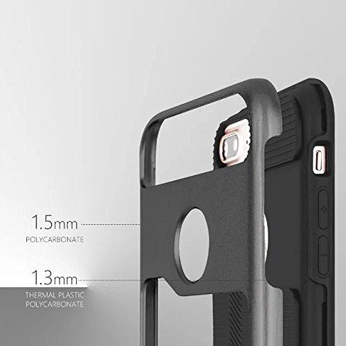 iPhone 7 Plus Coque,Lantier 2 en 1 [Hard Soft Coque robuste][Anti-Skid][Thin Slim Fit][Shock Absorption] Housse de protection Armure Motif vague Pour iPhone 7 Plus (5,5 pouces) noir Black