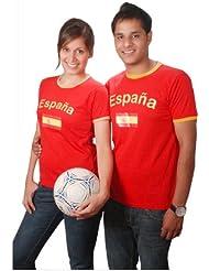 BRUBAKER Spanien Fan T-Shirt Rot Gr. S - XXXL