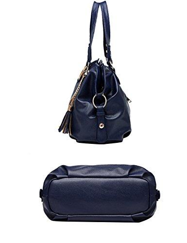 be543f2f4404b ... Menschwear Damen Handtasche Marken Handtaschen Elegant Taschen Shopper  Reissverschluss Frauen Handtaschen Orange Blau ...