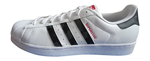 Adidas Superstar Herren Sneaker FTWWHT/BLACK/SCARLE AQ2349
