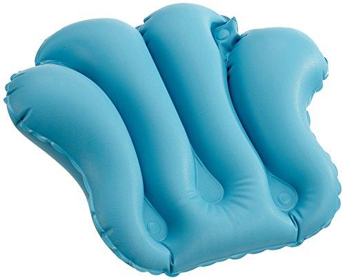Dr. Winkler Großes Badewannenkissen, Aufblasbar mit 4 Saugnäpfen, Blau