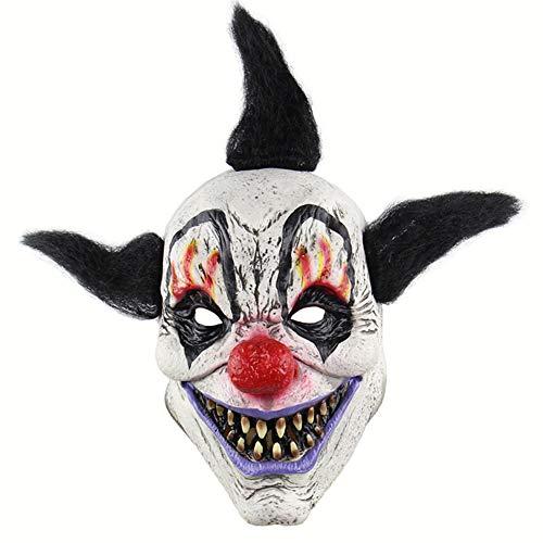 Halloween Latex Maske Gruselige Schwarze Haare Clown 3D Deluxe Neuheit Kostüm Party Cosplay Spielzeug Eine Größe Deluxe-clown Halloween-maske