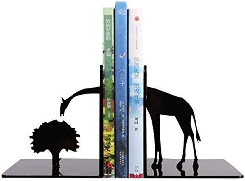 CLQya Bookends kreative tierische Modellierung Bookends Metallregalbücherregal Startseite Regal für Schule Büro Papier- und Schreibwaren Home Decor Bookend Book Organizer