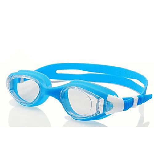 ganpingchenkai Professionelle wasserdichte Anti Nebel Schutzbrille Erwachsene Männer und Frauen Anti UV HD Schwimmbrille Sky Blue