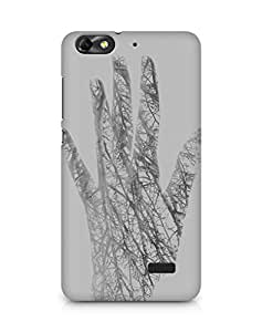 Amez designer printed 3d premium high quality back case cover for Huawei Honor 4C (Holleyandchris white branched out hand nature)