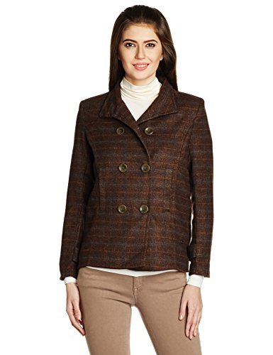 US Polo Women's Cotton Jacket (UWJK0079_Brown_S)