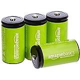 Amazon Basics, batterie C ricaricabili da 1.2 V (5000 mAH Ni-MH) - Confezione da 4