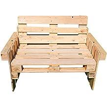 relaxedLiving Sessel aus Paletten | Gartenmöbel | geeignet für Restaurants & Messen | Gastronomie | Großbestellungen möglich (Natur, Sessel)
