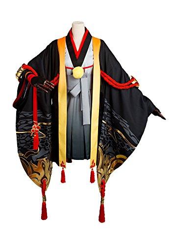 r Onmyouji Prajna Cosplay Kostüm Outfit Kimono Suit Herren M (Yin Yang Halloween Kostüm)