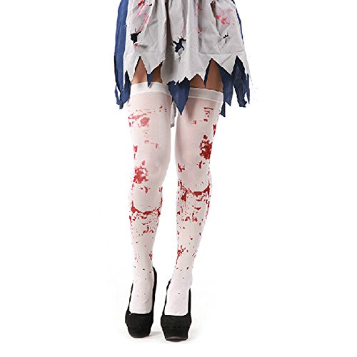 Ids home bianco calza macchiato di sangue zombie halloween fancy dress costumes, white, x1