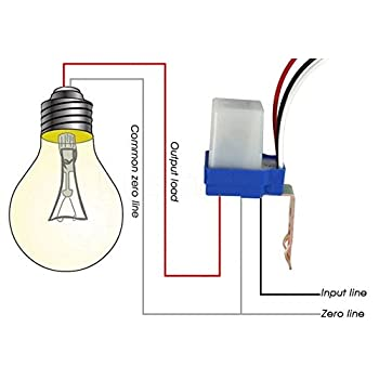 Unik AC 220V 50-60Hz 10A Auto On off Photocell Day Night Sensor Light Day And Night Wiring Diagrams on