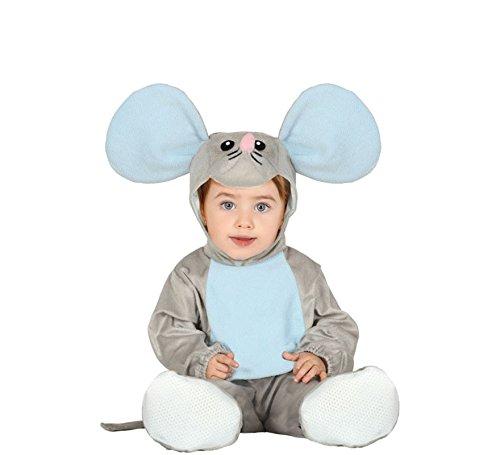 Mäuse Kostüm Niedliche - Fiestas Guirca Niedliches Maus-Kostüm für Babys Tierkostüm grau-blau 92 (1-2 Jahre)