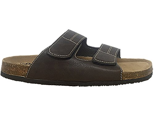 Foster Footwear ,  Jungen Unisex Erwachsene Herren Damen Pantoletten V- DK Brown