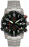 Astroavia Herren-Armbanduhr Alarm Chronograph Quarz mit Edelstahl Armband R87S