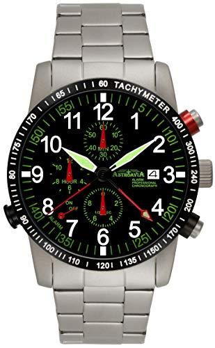 Astroavia Herren-Armbanduhr Alarm Chronograph Quarz R87S
