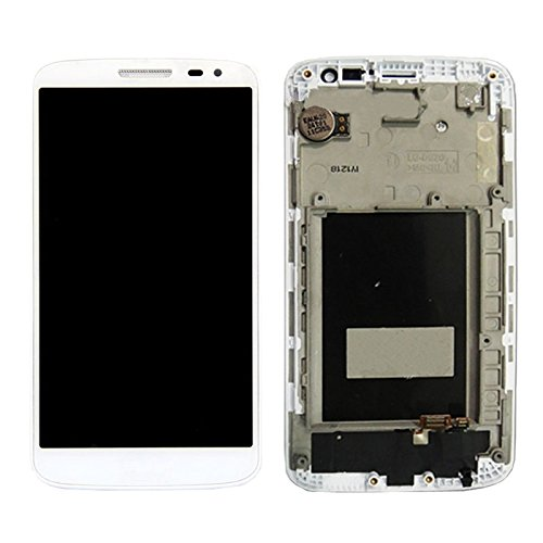 Ipartsbuy LCD Display + Touchscreen digitizer Assembly mit Rahmen für lg g2 Mini / d620 / d618 Displayschutz (Farbe : Weiß) (Lg G2 Display Lcd Austausch)