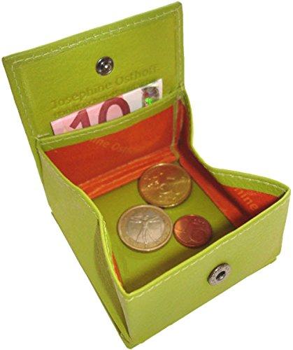 Josephine Osthoff Handtaschen-Manufaktur Kleine Leder Geldbörse Cent - Limone - Wiener Schachtel Handarbeit Geldbeutel Münzbox